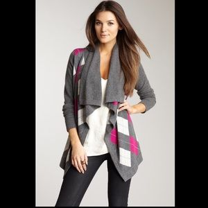 Autumn Cashmere argyle drape sweater